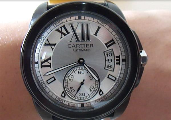 Caliber de Cartier Silbernes Zifferblatt