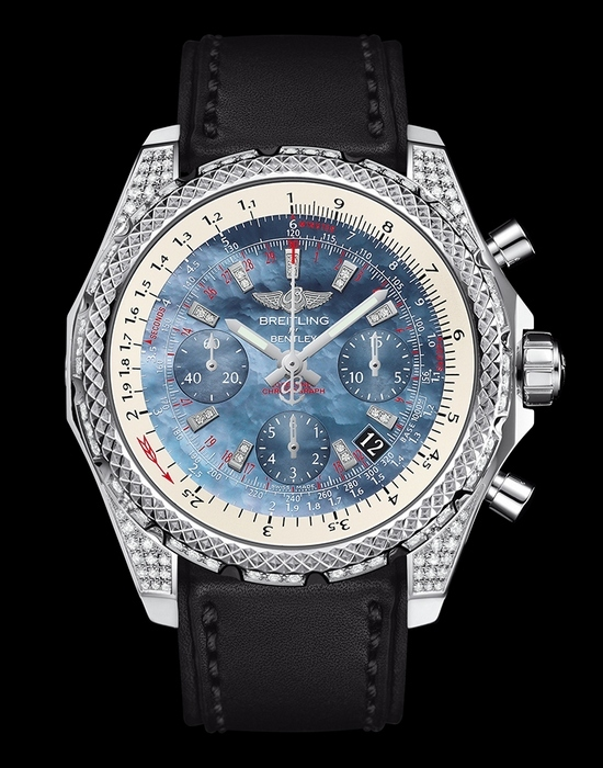 Breitling Bentley B06S Stahl Pearl Dial Gefälschte Uhr Diamanten