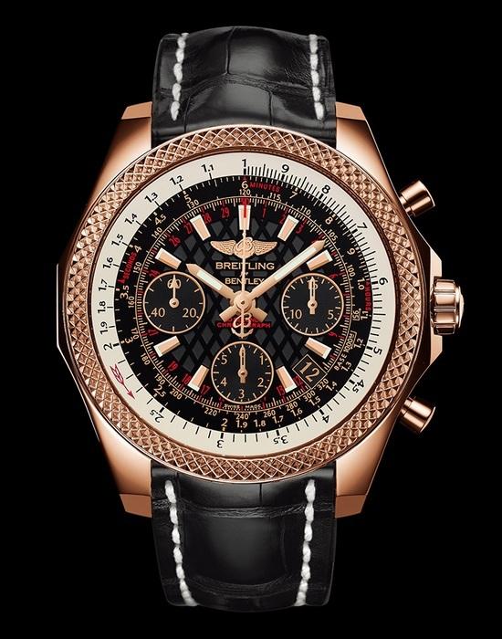 Breitling Bentley B06s Rotgold schwarzes Zifferblatt Replik-Uhr