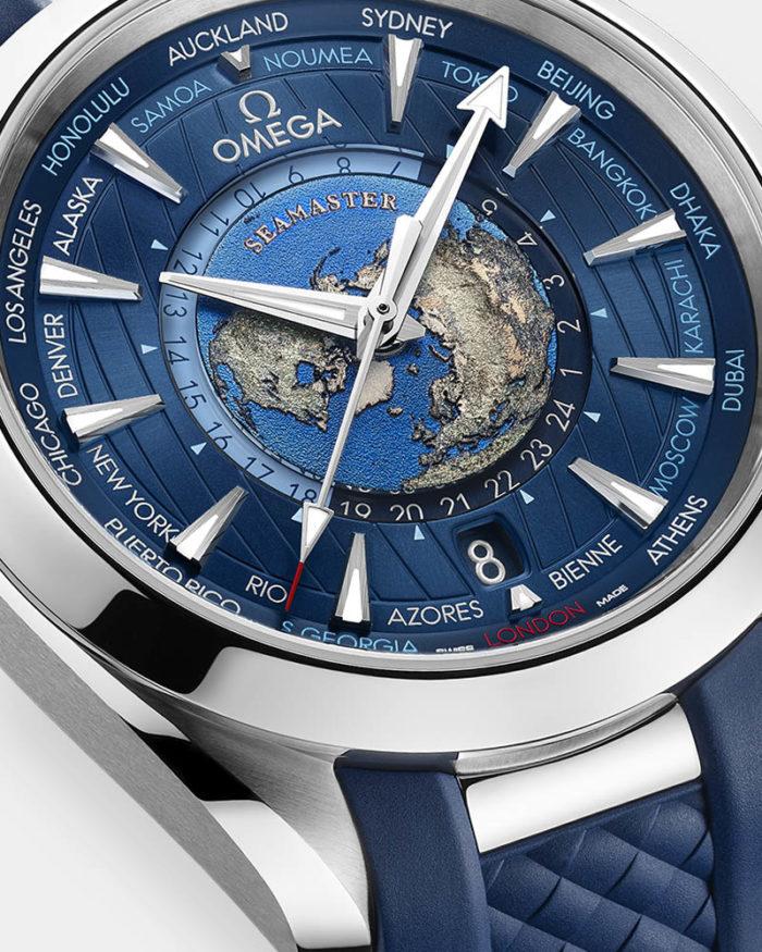 Replica Omega Seamaster Aqua Terra Worldtimer Stahl