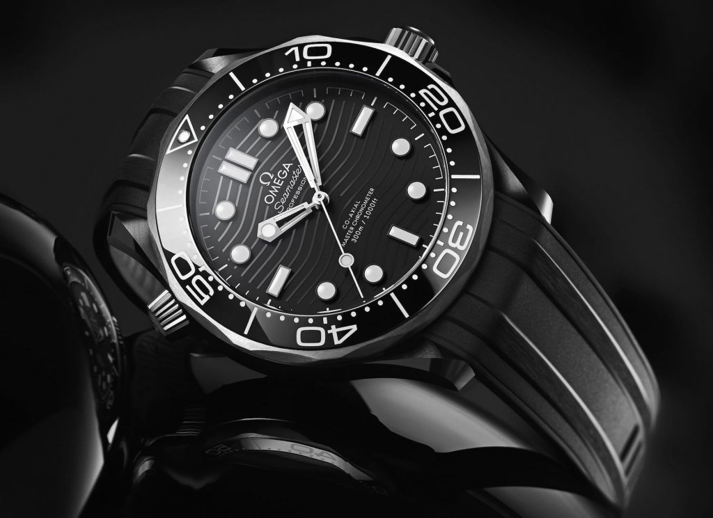 Replica Omega Seamaster Diver 300M Schwarz Keramik Titan