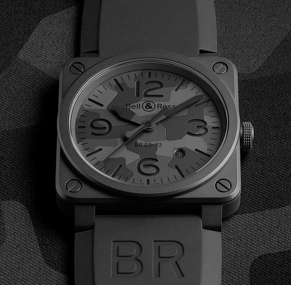 Bell Ross BR 03-92 Black Camo Replica Uhren