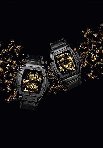 Hublot Spirit Of Big Bang Gold Crystal Fake Uhren
